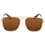 Gucci Brown Square Sunglasses