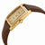 Seiko Solar Quartz Champagne Dial Brown Leather Mens Watch SUP896