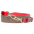 Michael Kors Colorblock Guitar Strap- Bright Red
