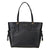 Michael Kors Voyager Textured Crossgrain Leather Tote- Black