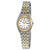 Seiko Solar White Dial Two-tone ladies Watch SUT116