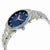 Bulova Classic Blue Dial Stainless Steel Mens Watch 96B220