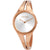 Calvin Klein Addict Silver Dial Medium Rose Gold-tone Ladies Watch K7W2M616