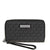 Michael Kors Large Flat Jet Set Wristlet- Black