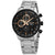 Seiko Chronograph Quartz Black Dial Mens Watch SSB331