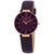 Anne Klein Crystal Dark Plum Mother of Pearl Dial Ladies Watch AK/3272RGPL