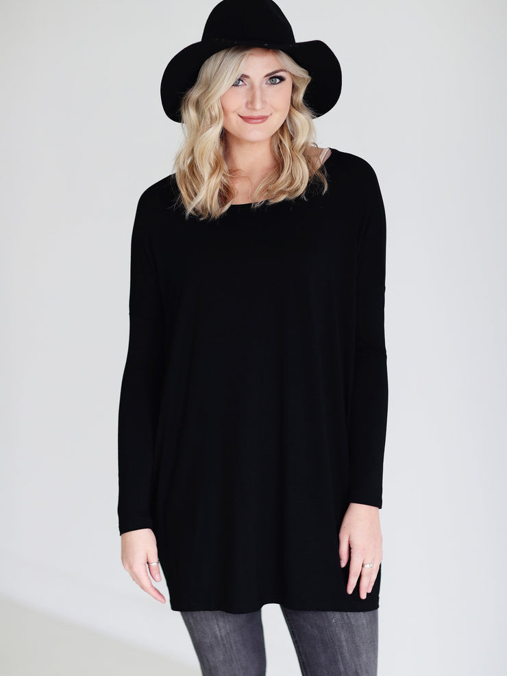 Black Long Sleeve Tunic