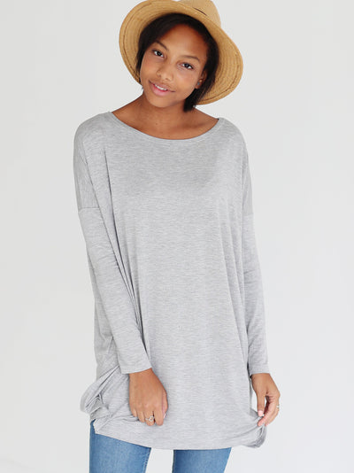 Heather Gray Long Sleeve Tunic