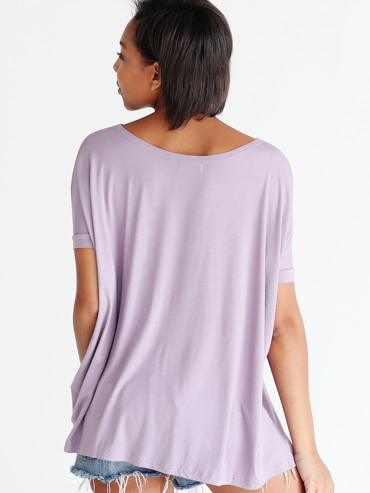 Light Purple Short Sleeve Top