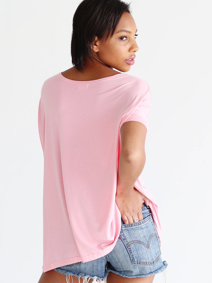 Rose Quartz Short Sleeve Top
