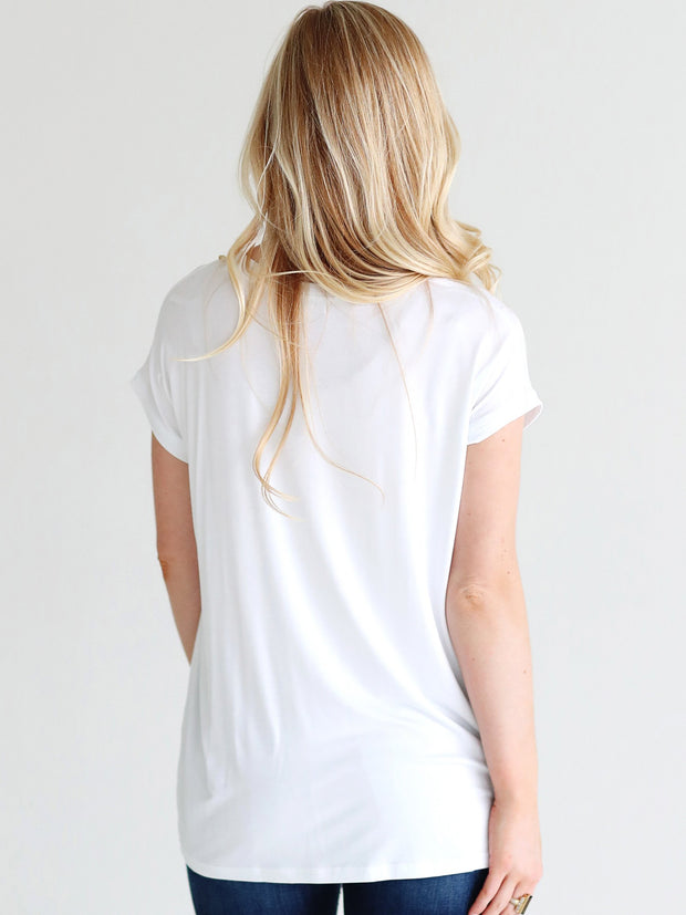 White Cap Sleeve Top