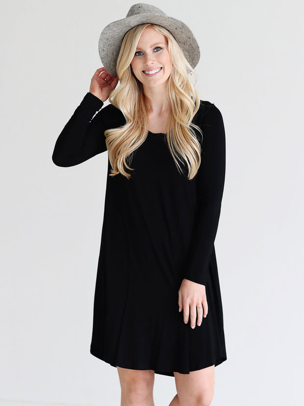 Black DLMN Swing Dress