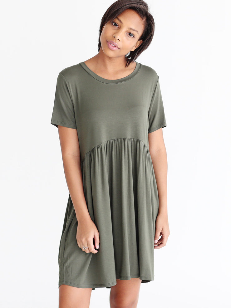 Army Babydoll Dress