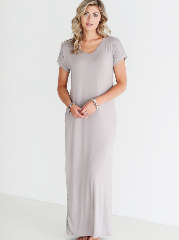 Chelsea Gray DLMN Straight Cut Maxi Dress