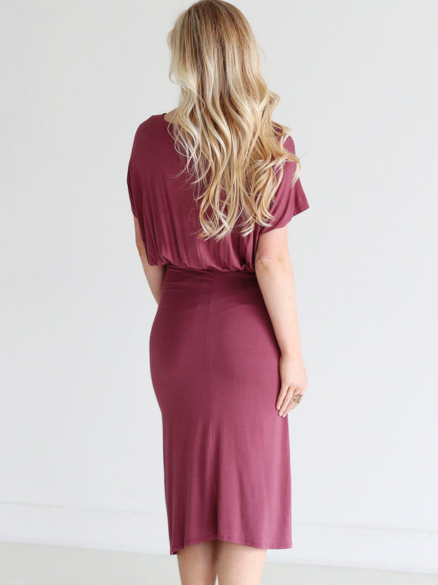 Nocturne DLMN Ruched Side Midi Dress