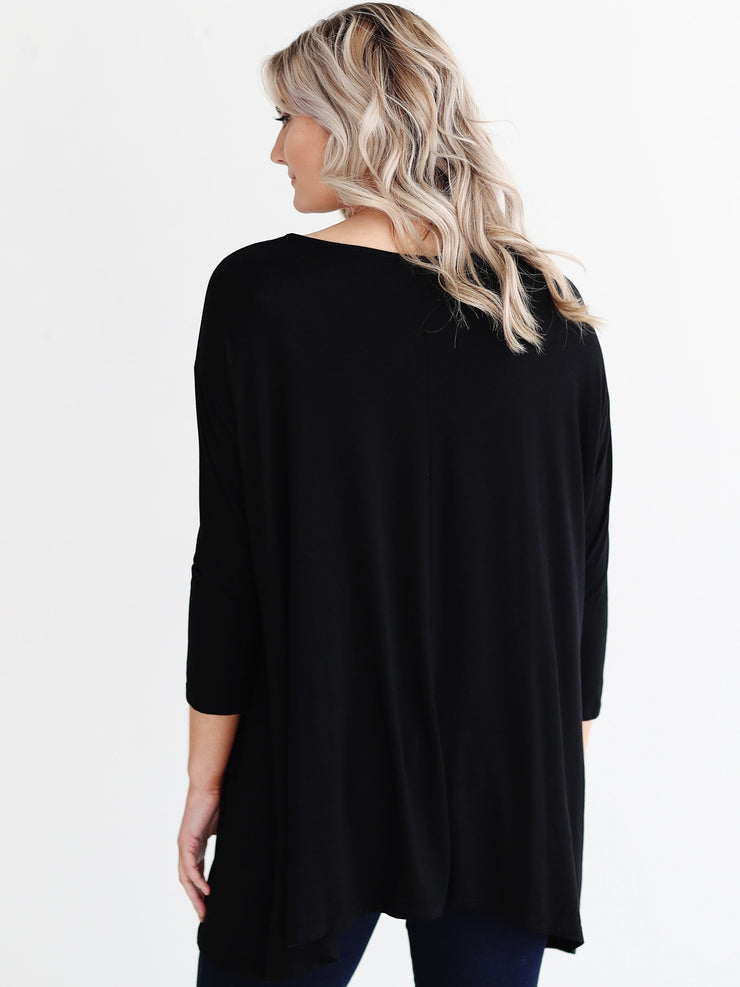 Black DLMN Cage Swing Tunic