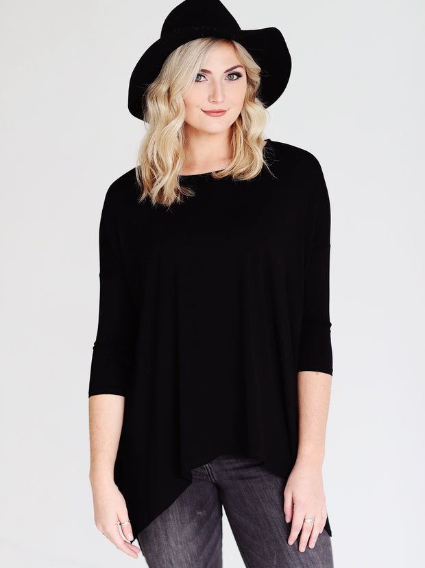 Black DLMN Handkerchief Top