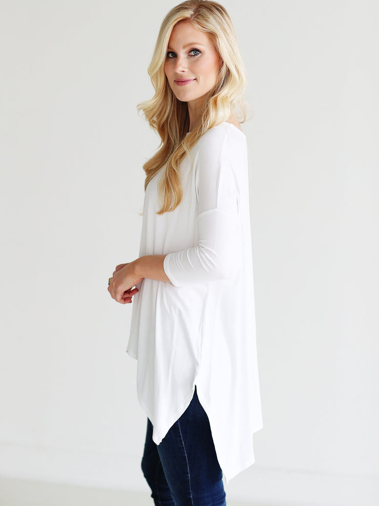 White DLMN Handkerchief Top