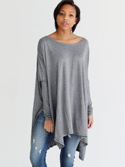 Dark Heather Gray DLMN Oversized Tee