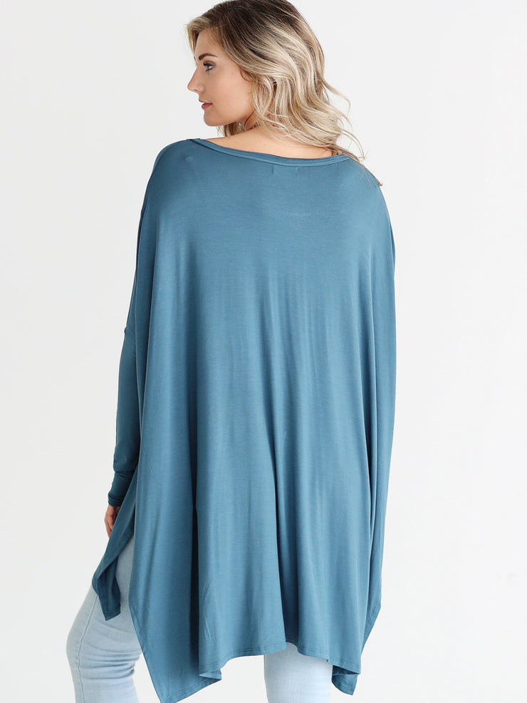 Midnight Teal DLMN Oversized Tee
