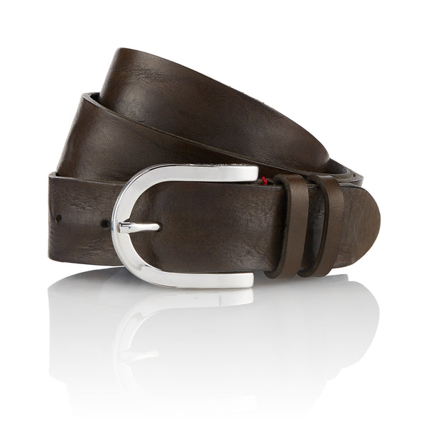 Afar - Handcrafted Italian Belt / Dark Green