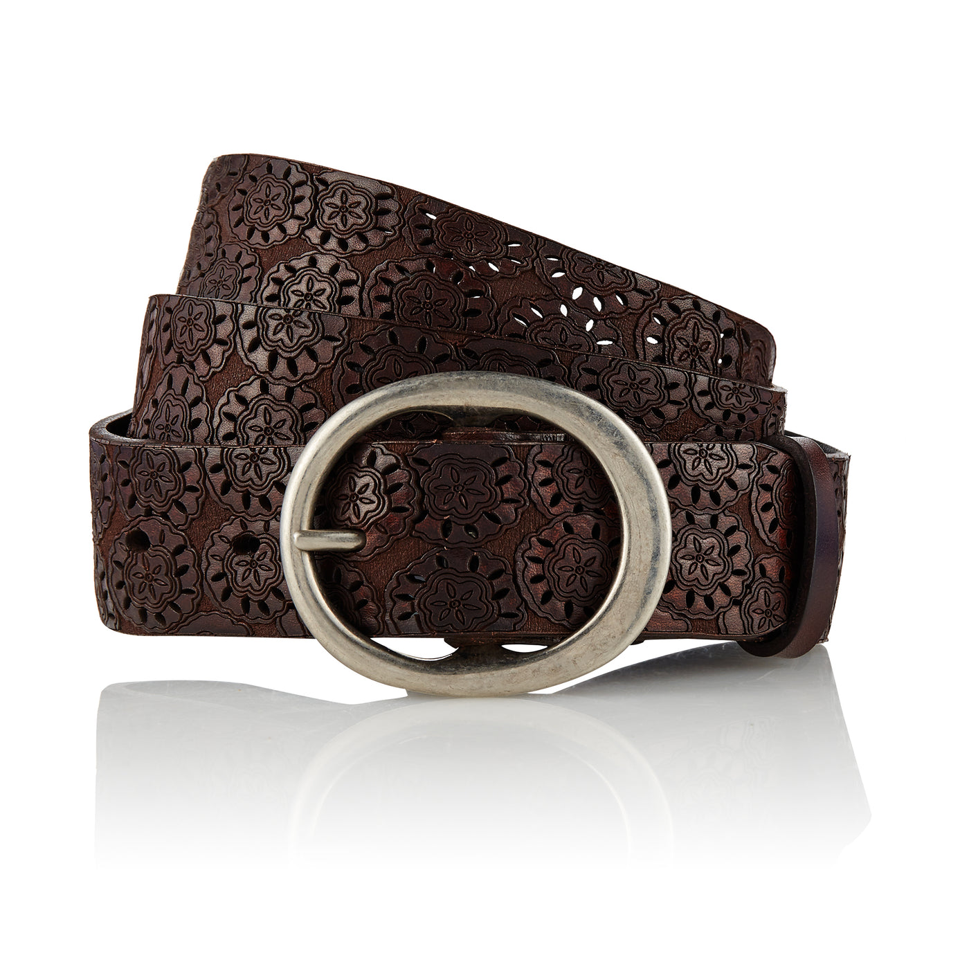Asmat - Handcrafted Italian Belt / Dark Brown