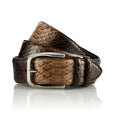 Bazigar - Handcrafted Snake Leather Belt / Brown