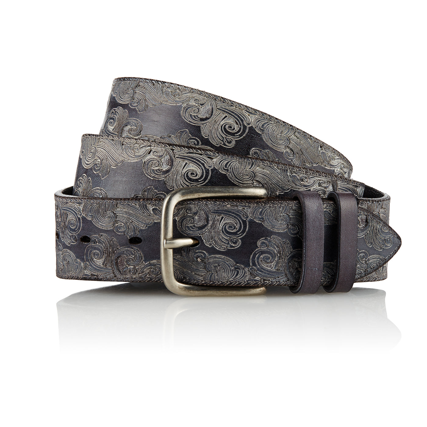 Dayak - Handcrafted Italian Belt / Navy Blue