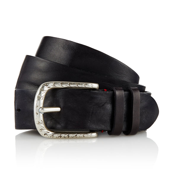 Dene - Handcrafted Italian Belt / Black