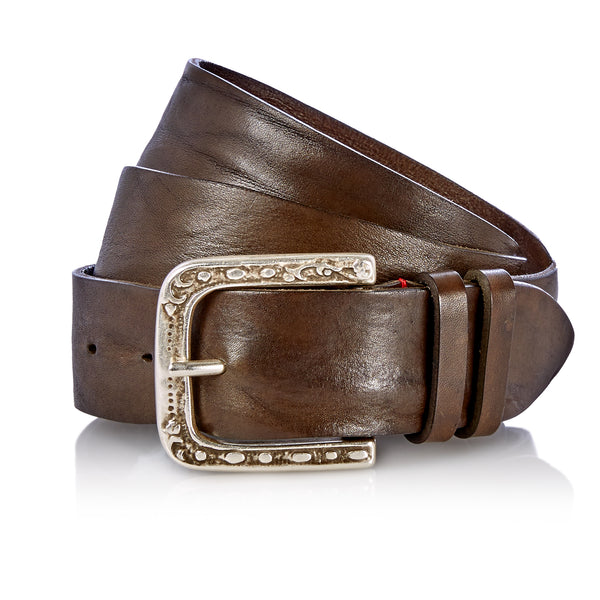 Even - Handcrafted Italian Belt / Dark Green
