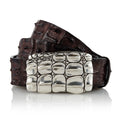 Jarrakan - Handcrafted Italian Crocodile Belt / Dark Brown