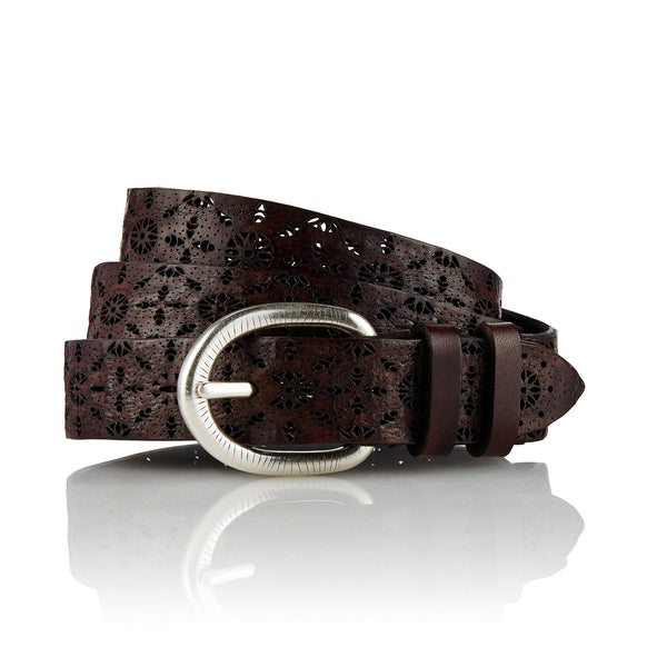 Ainu - Handcrafted Italian Belt / Dark Brown