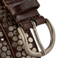 Nawar - (30mm) Handcrafted Italian Leather Belt / Dark Brown