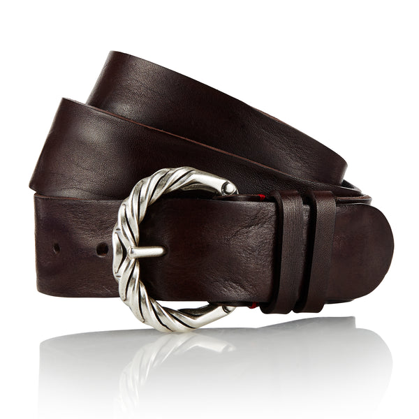 Odul - Handcrafted Italian Belt / Dark Brown