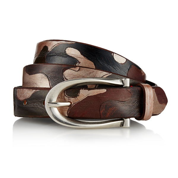 Samah - Handpainted Italian Belt / Brown