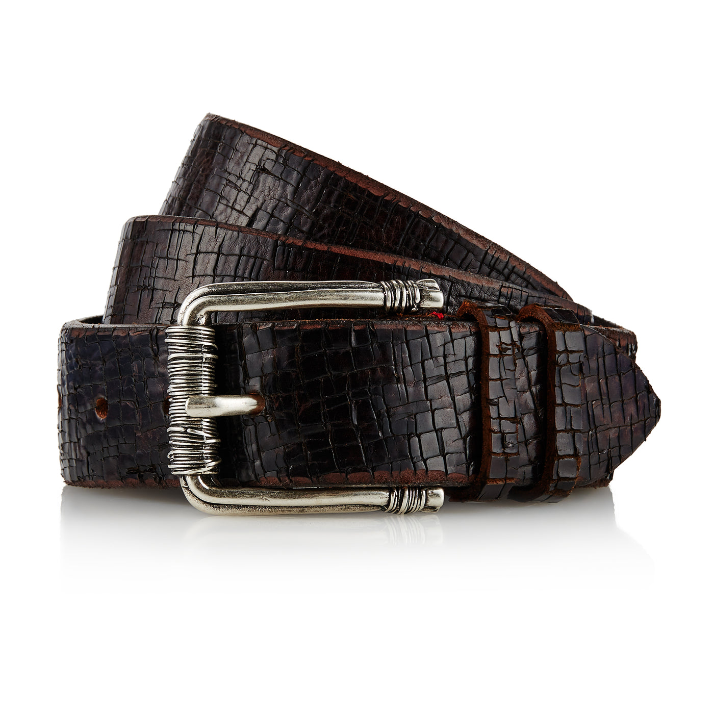 San - Handcrafted Italian Belt / Dark Brown