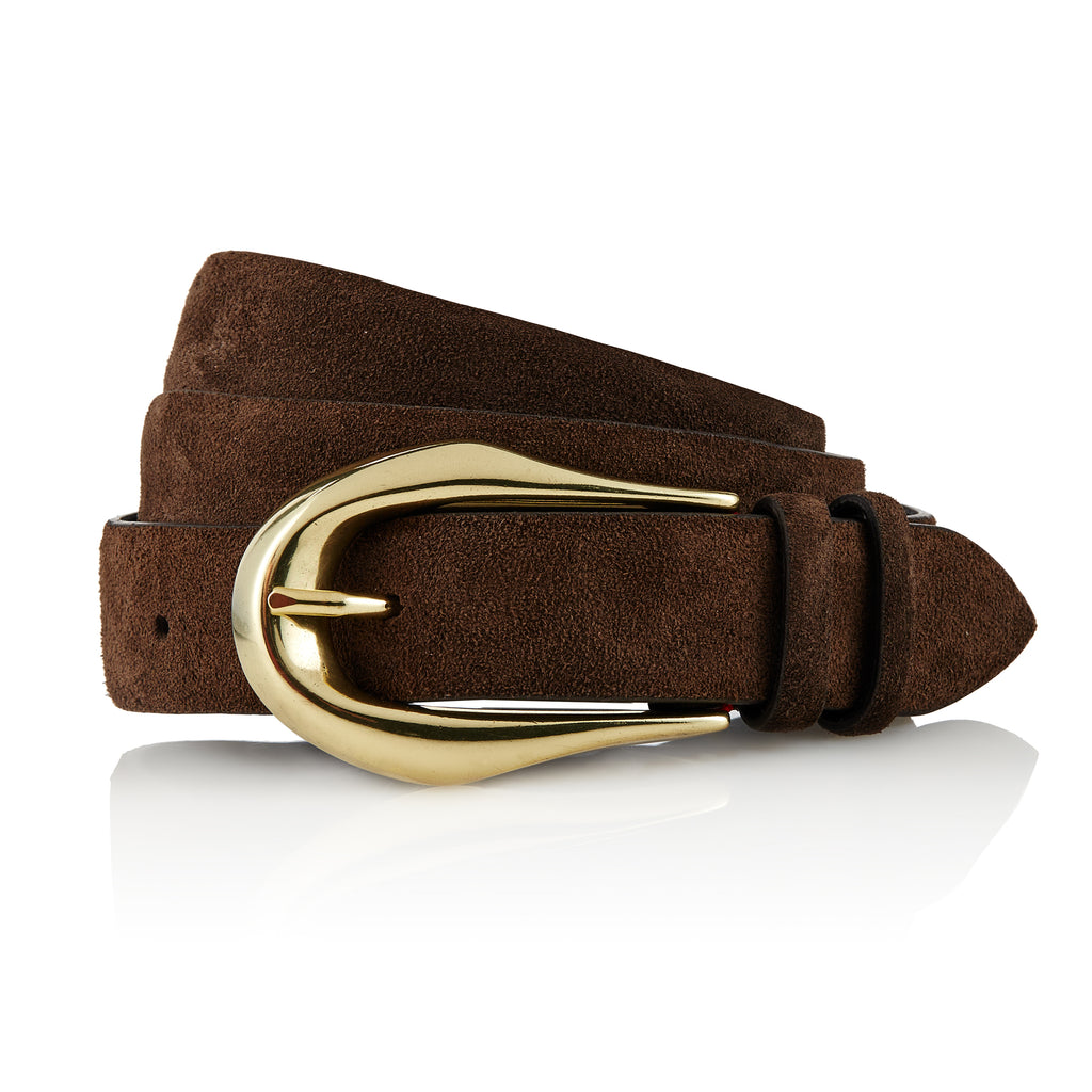 Selkup - Handcrafted Italian Suede Belt / Dark Brown