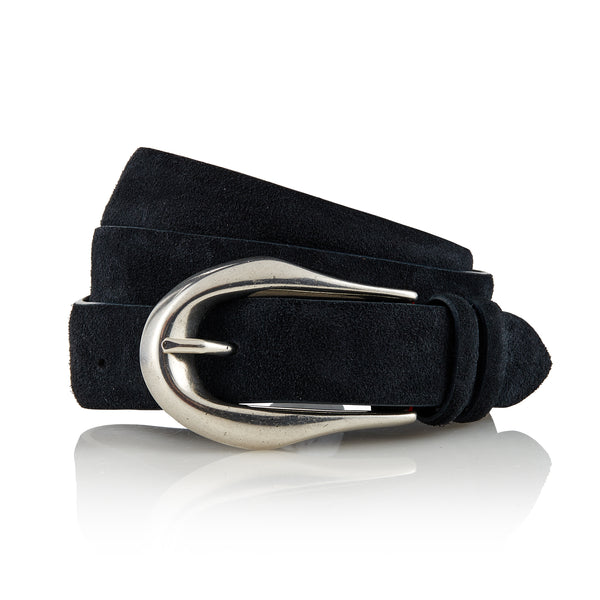 Tuvan - Handcrafted Italian Suede Belt / Navy Blue