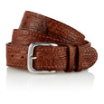 Yolngu - Handcrafted Italian Crocodile Belt / Tan