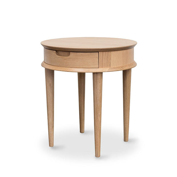 EVERYDAY LOW Oslo Lamp Table w draw Natural