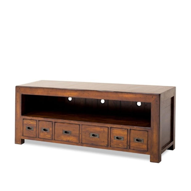 EVERYDAY LOW Post & Rail Lowline TV Unit Large