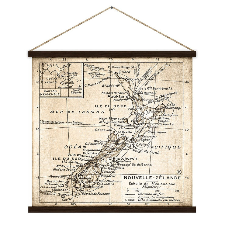 Kakemono The NZ Vintage Map