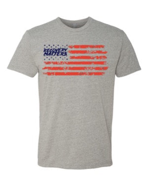 Star Spangled Supps-Recovery Matters and Bars Tee