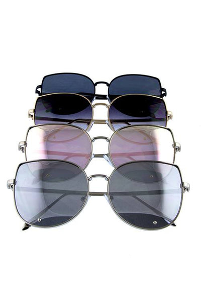 Womens metal leaf butterfly sunglasses