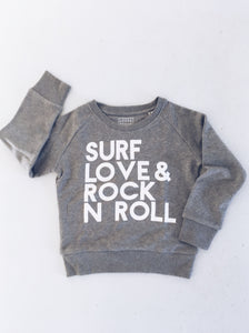 Surf, Love & Rock n Roll Sweat - Slate Grey