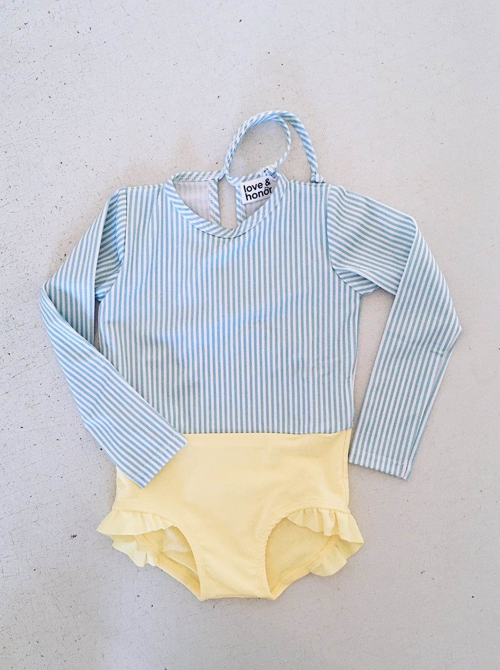 Margot Swimsuit - Stripe/Sunshine