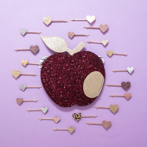 Glitter Apple Bag