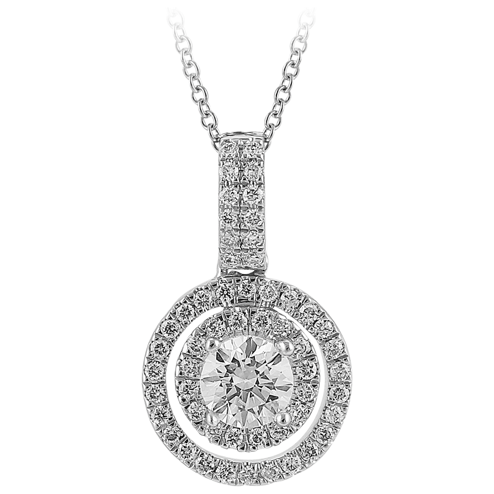 Duplo - Diamond Double Halo Pendant