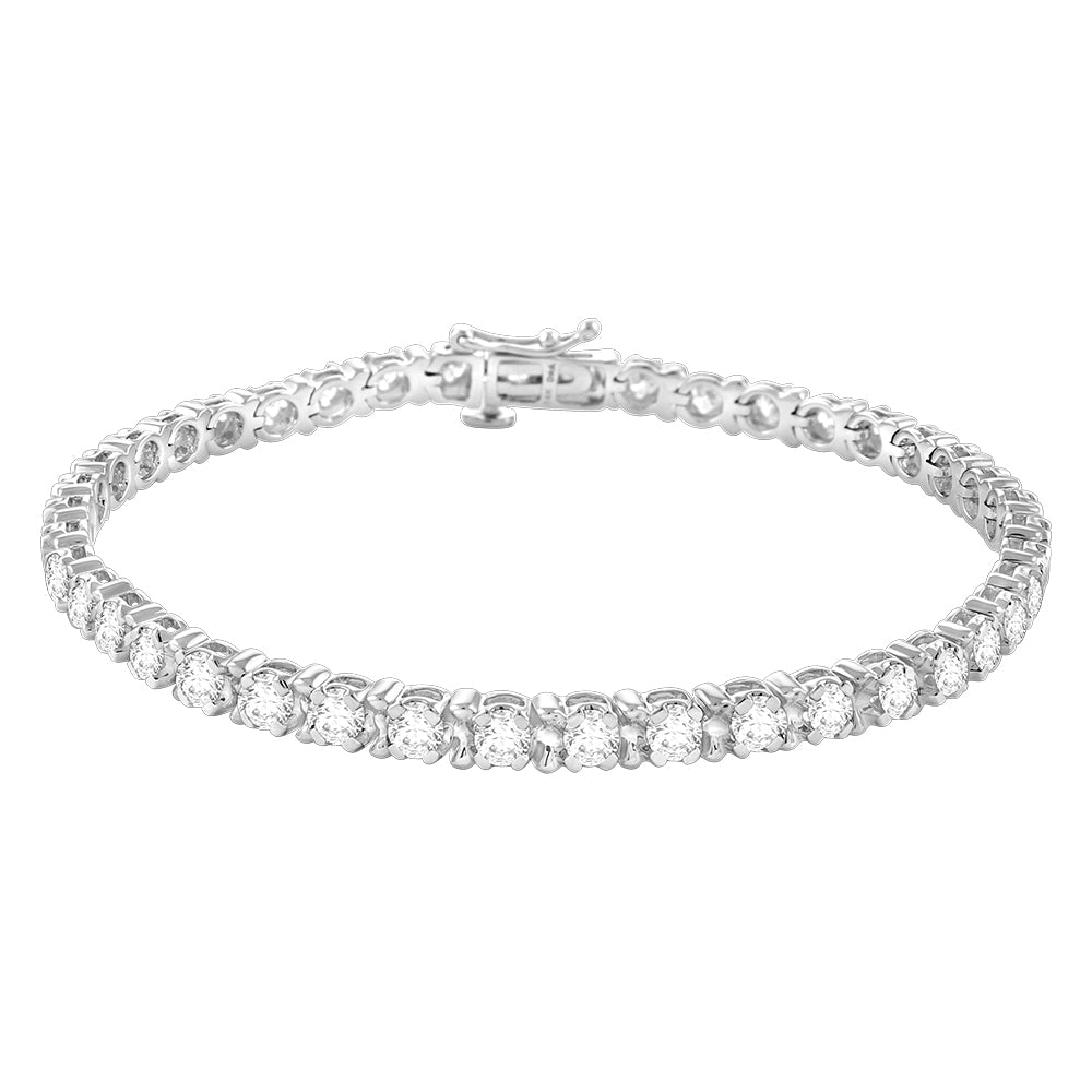 Cheries - Diamond Tennis Bracelet - Certified