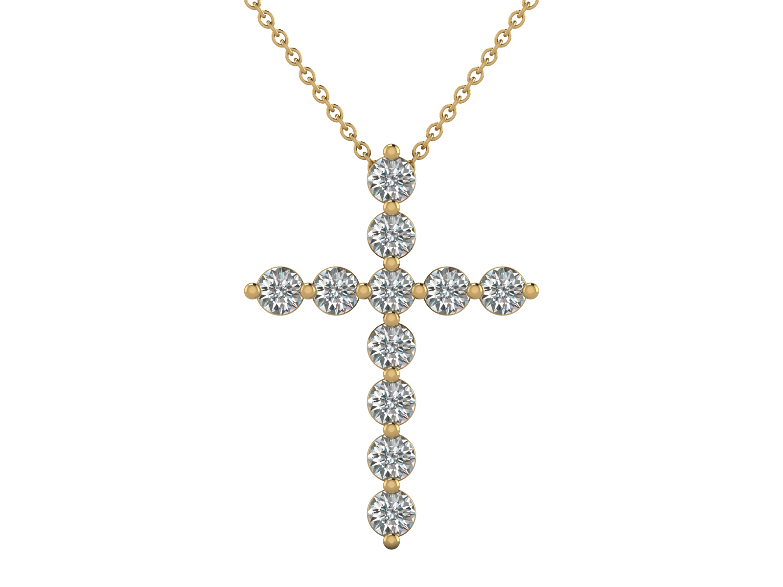Fidel - Diamond Cross Pendant